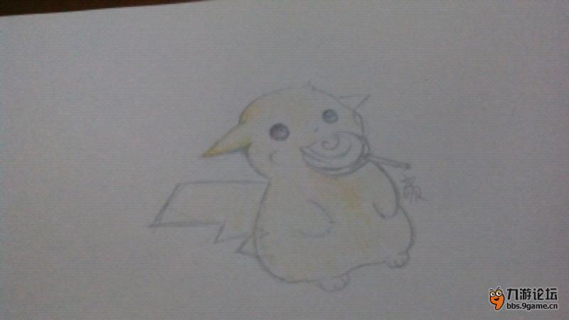 铅笔画仓鼠可爱图片
