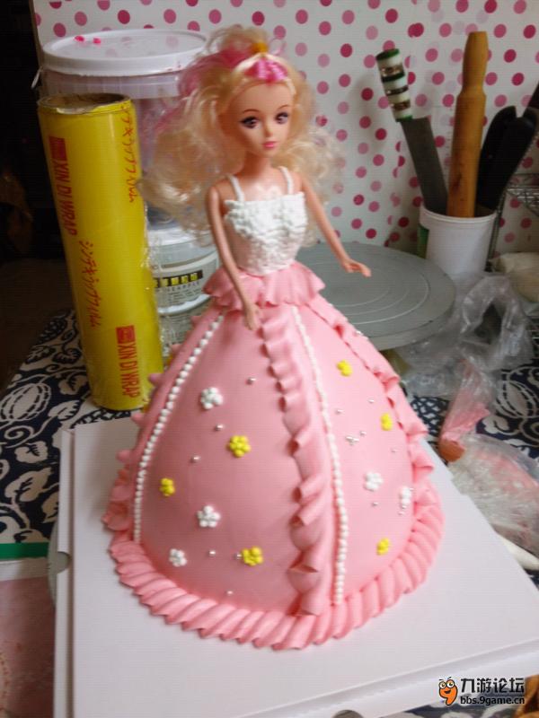 纯手工制作芭比蛋糕