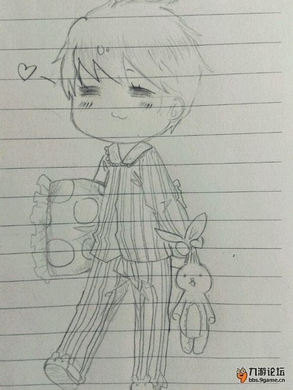 铅笔画可爱萌妹