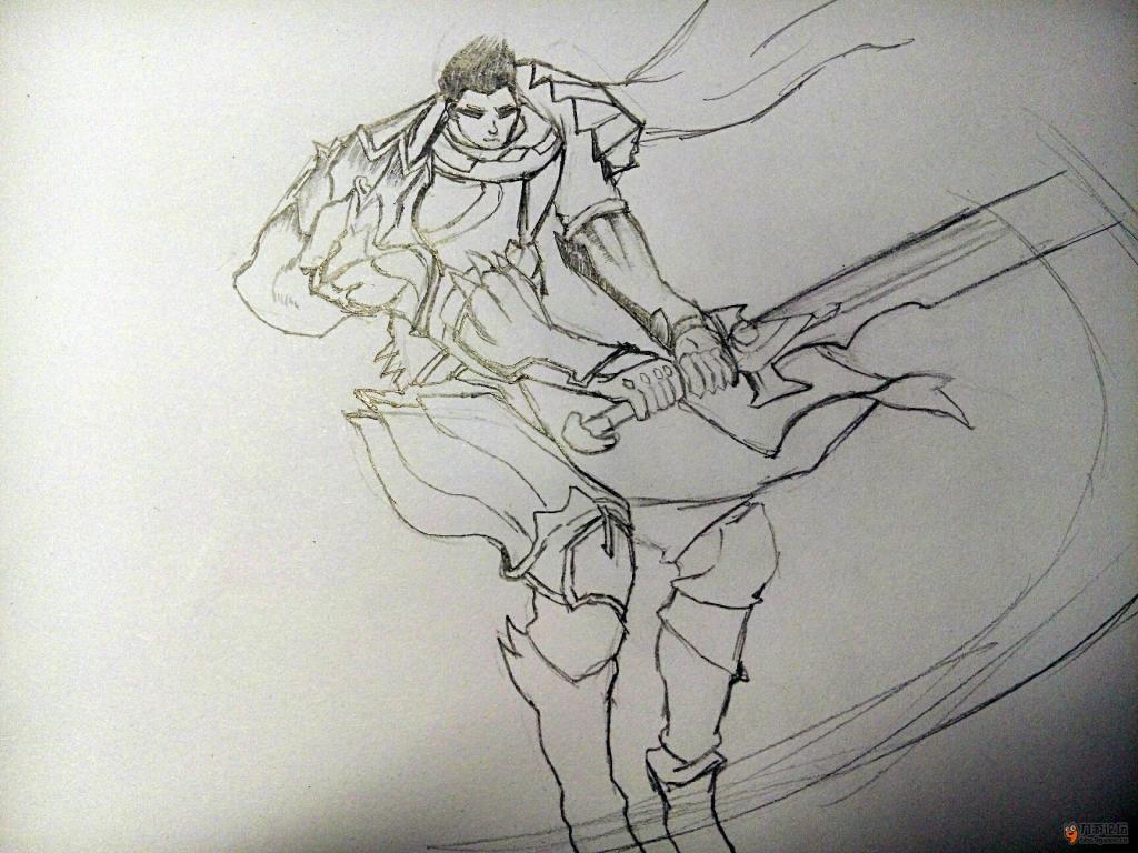 亚索原计划风手绘画