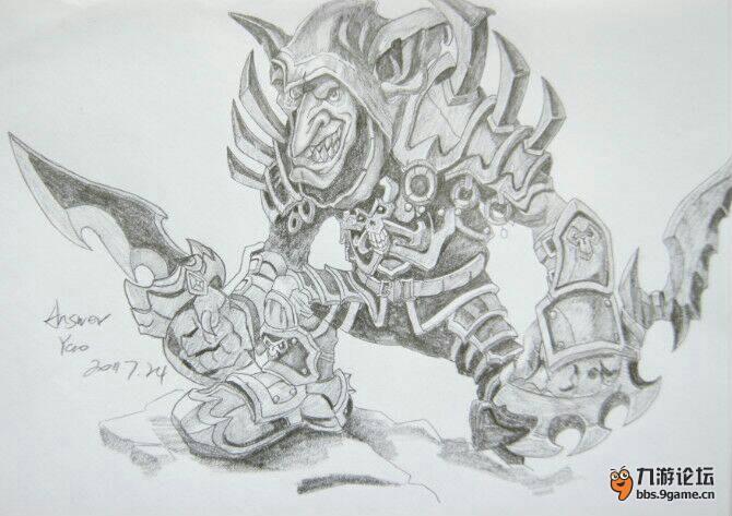 魔兽世界v怪物猎人手绘