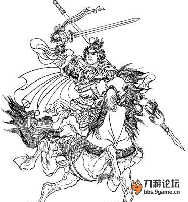 赵云简笔画图片大全