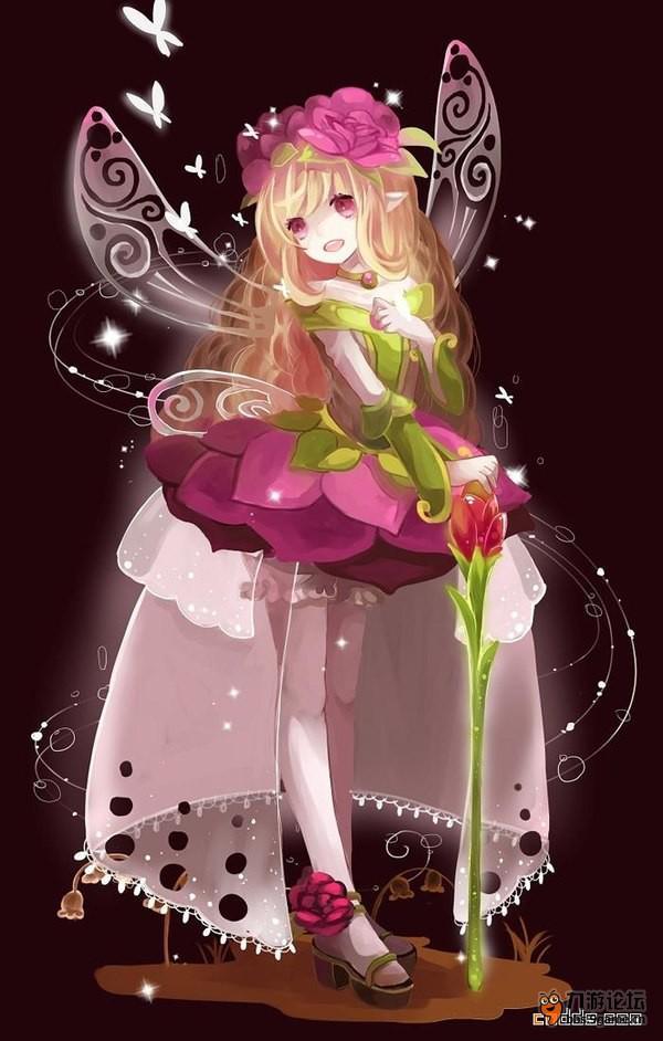 唯美色彩版花仙子