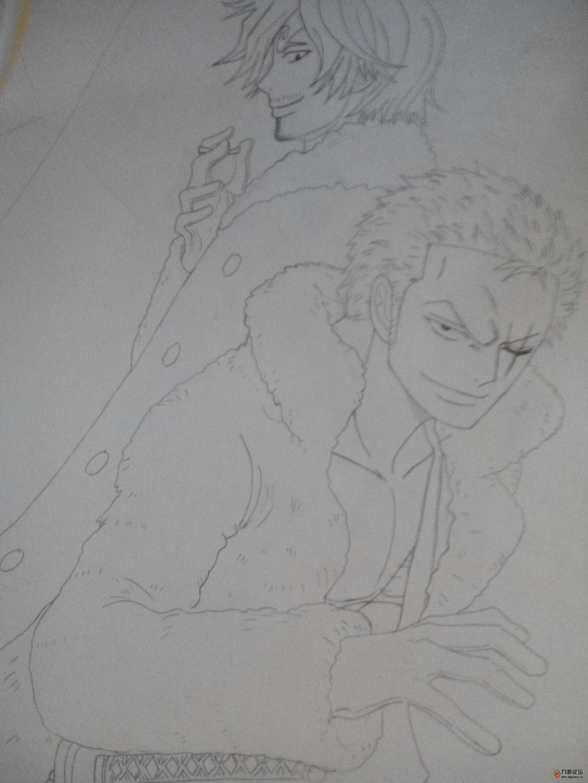 索隆香吉士手绘