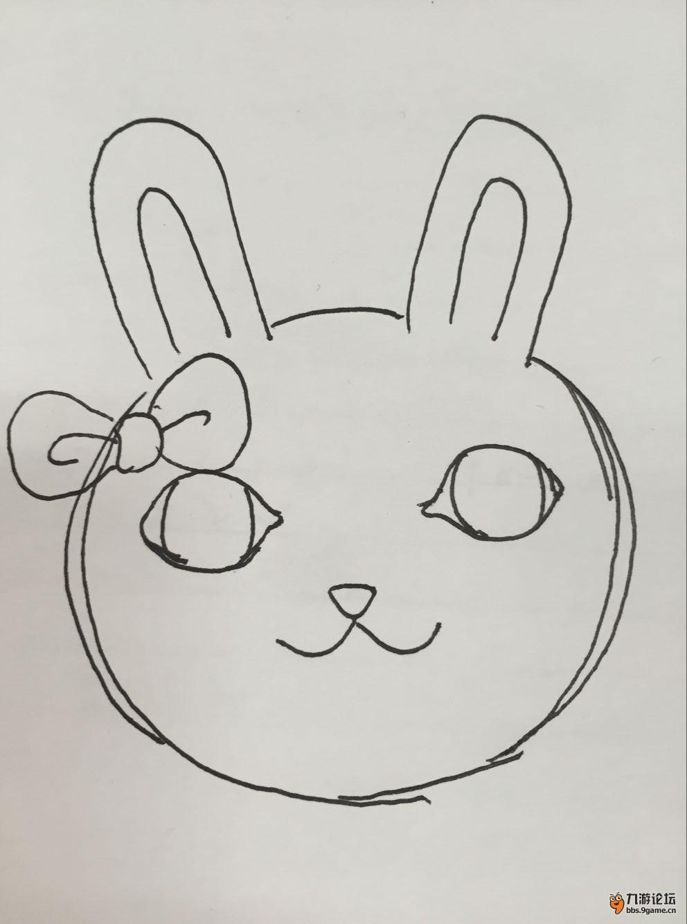 可爱的小兔子简笔图画