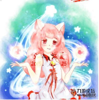 【梦幻西游手绘】 圣诞版npc小狐妖
