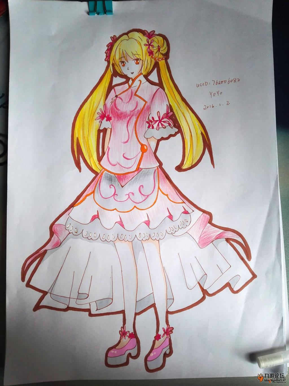 《甜甜萌物语》萌系服装设计画作展示