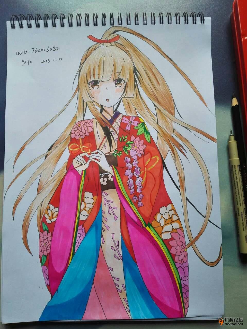 【甜甜手绘】+ 和服