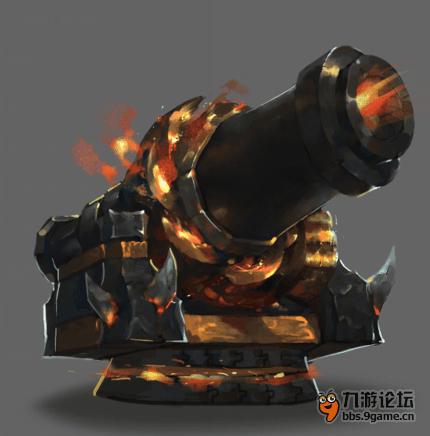 最新守城炮设计图,还有涡轮旋转装置